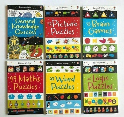Usborne Activities Set Of 6 Puzzles Book Age 6+