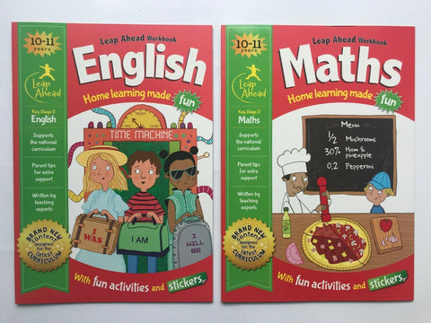 Leap Ahead English & Maths, Home Learning Workbooks, Kids Age 10-11