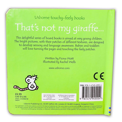 Usborne Touchy-Feely That's Not My Giraffe