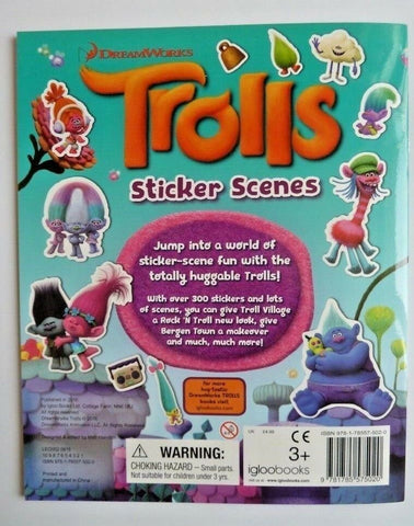 Trolls Sticker Scenes Over 300 Stickers Book