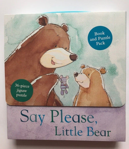 Say Please, Little Bear Book and Puzzle Pack