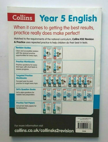 Ks2 Collins English Year 5 Targeted Practice Workbook Ages 9-10