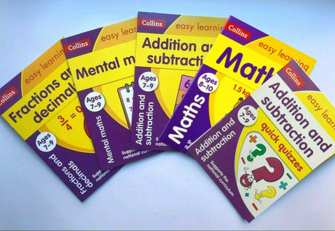 KS2 Collins Easy Learning Numeracy Pack of 5 Workbooks Ages 7-9