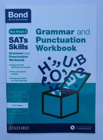 KS2 Bond Sats Skills Grammar & Punctuation Workbook Oxford Ages 9-10 Years