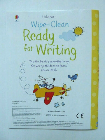 Usborne Get Ready For School Wipe Clean Activity Pack