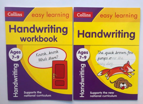 KS2 Handwriting & Handwriting Workbook Collins Set Ages 7-9