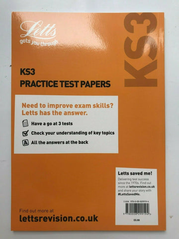 Letts KS3 Science Practice Test Papers Book