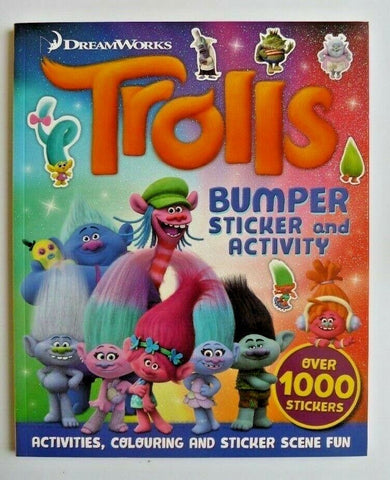 DreamWorks Trolls Bumper Sticker & Activity Book Over 1000 Stickers