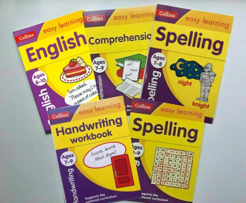 KS2 Collins Literacy Set of 5 Books Ages 7-9 Handwriting Comprehension Spelling