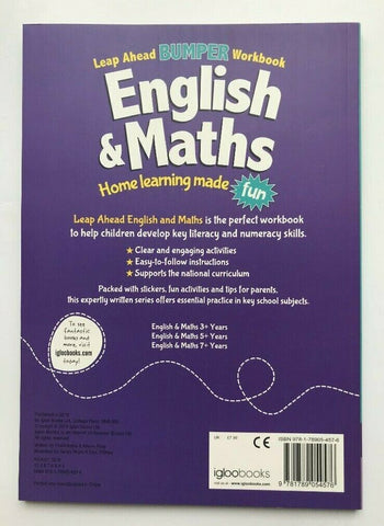 Leap Ahead Bumper Workbook English & Maths Age 9+ Years