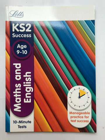 Letts Maths English 10 Minute Tests Book Ages 9-10 KS2