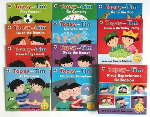 Topsy & Tim Collection Of 10 First Experience Books Ages 3+
