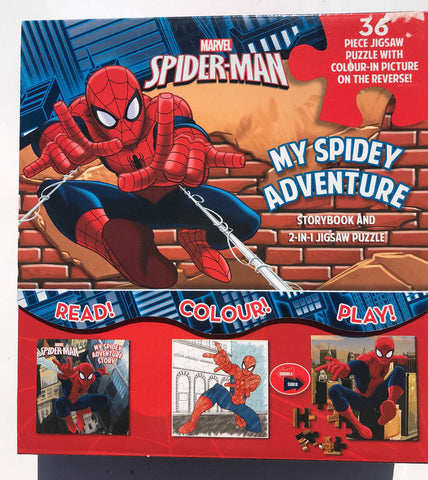 Marvel Spider-Man My Spidey Adventure: Storybook and 2-in-1 Jigsaw