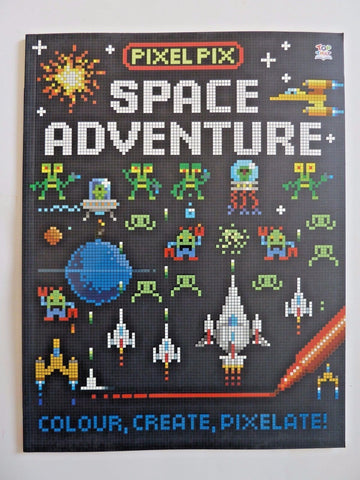 Pixel Space Adventure Book Pixel Pix Colour Square Ages 4-8