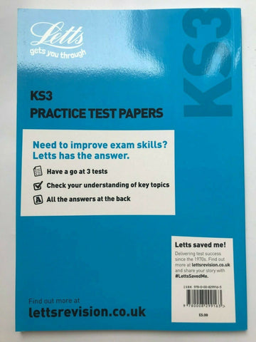 Letts KS3 English Practice Test Papers Book
