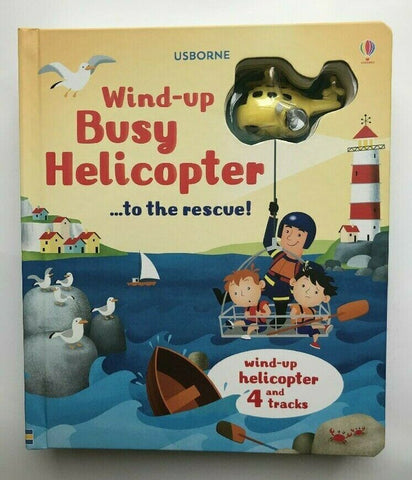 Usborne Busy Helicopter Wind-up Toy Book