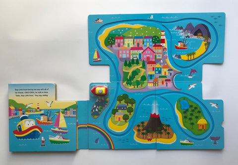 Busy Little Boat Wind-up Toy Book Ages 2+