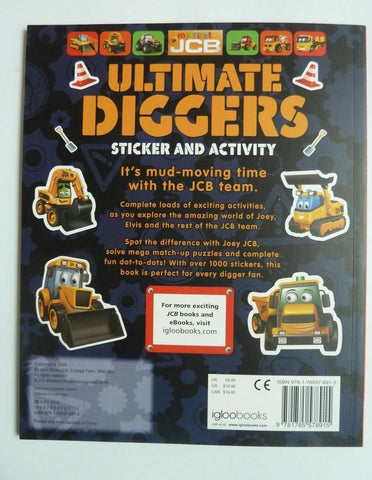 Ultimate Digger & Machine Match-up Sticker & Activity Set of 2 Books