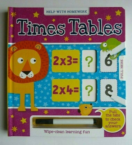 Wipe and Clean Time Table Book