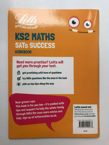 Letts KS2 Maths SATs Success Workbook Ages 7-11