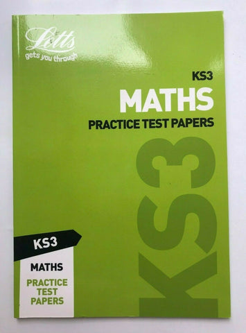 Letts KS3 Maths Practice Test Papers Book