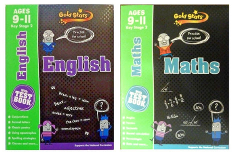 Maths & English Gold Stars Workbooks With Test Books KS2