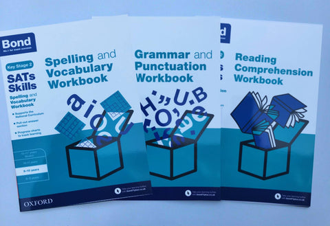 Bond Ks2 Reading Comprehension, Spelling & Grammar & Punctuation Workbooks Pack Ages 9-10
