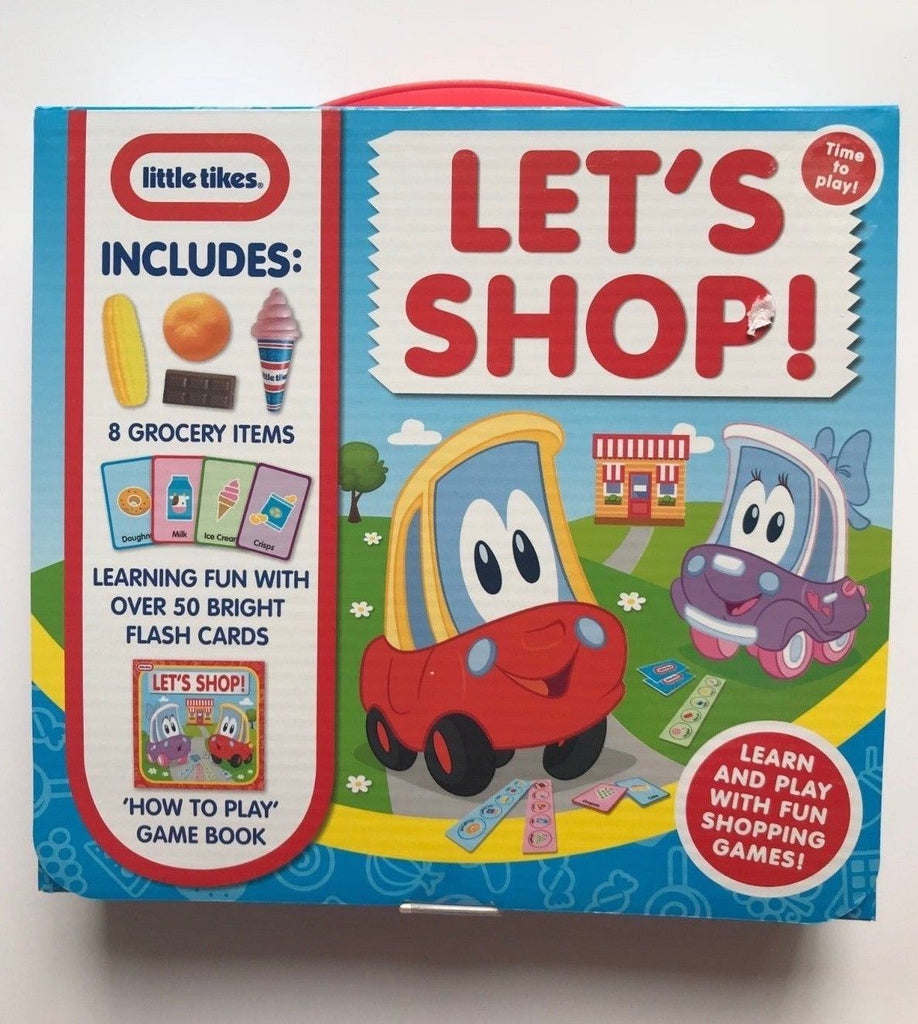 Let's Shope! Includes 8 Grocery Items & 50 Flash Cards