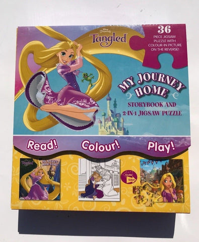 Disney Princess Tangled My Journey Home: Storybook and 2-in-1 Jigsaw Puzzle