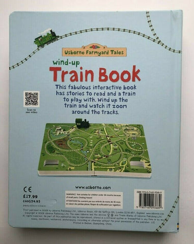 Usborne Farmyard Tales Train Wind-up Toy Book