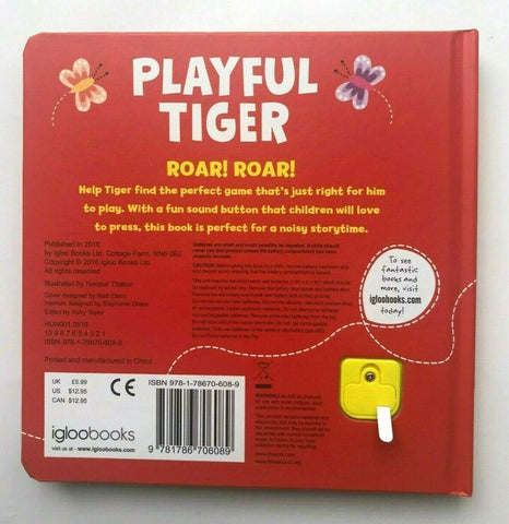 Playful Tiger Sound Book