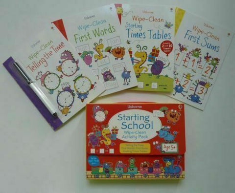 Usborne Wipe & Clean Starting School Activity Pack