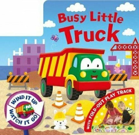 Busy Little Truck Wind Up Toy Book & Fold Away Track Ages 2+