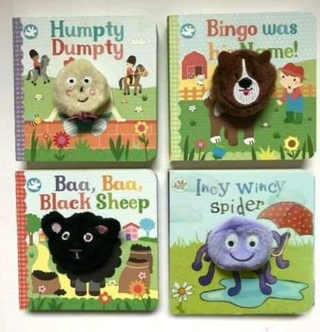 Finger Puppet Book Set of 4 popular nursery rhymes Babies upto 4 years New Baa B