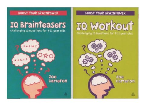 Set of Two Fun Learning Challenging IQ Questions, For Kids Age 7-11 year, KS 2