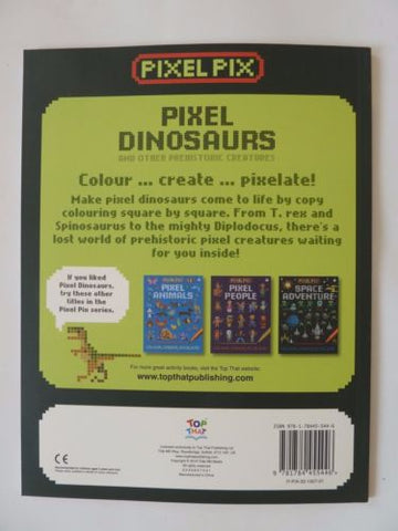 NEW Dinosaurs Other Prehistoric Creatures Pixel Copy Coloring Book Kids Ages 3