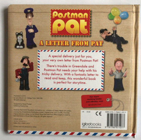Postman Pat A Letter from Pat With A Letter to Open and Read Children Ages 3 yr