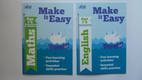 Letts Maths and English Home Fun Learning Activities Children Age 7 ...
