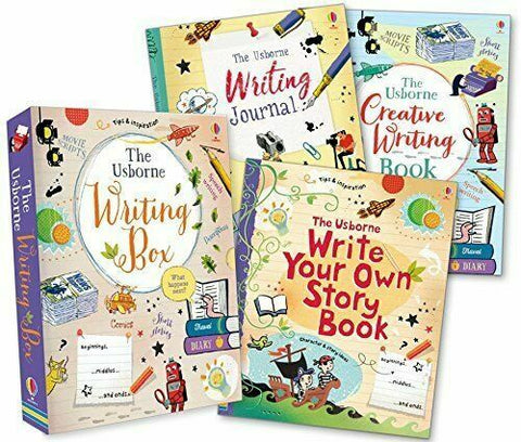 The Usborne Set Of 3 Writing Box Books Creative Writing,Journal & Story