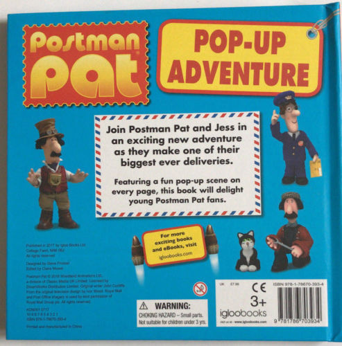 Postman Pat Pop up Adventure Ultimate Sticker Activity Letter from Pat 3 Books