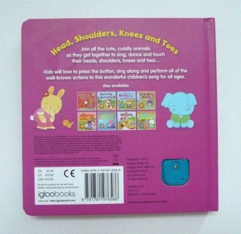 Head Shoulders, Knees & Toes Sound Book