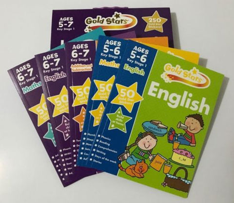 GoldStars Learning Pack Age 5 7 KS1 English Maths Addition Subtraction New