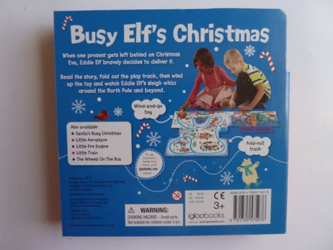 Elfs wind up toy with fold out play track New children 2 5 years Christmas gift