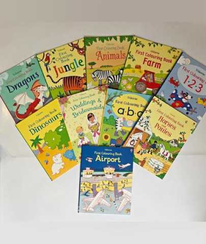 Usborne First Colouring Book Set of 10 Books