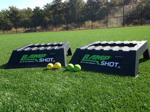 Tailgate RampShot Game Set- Cornhole on Steroids Beach Great for Families and Instructions Yard 4 Balls 2 Nets Includes 2 Ramps 2 Stickers Camping