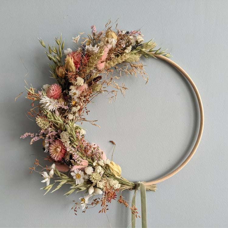 Dried Flower Wreath {Country Garden}