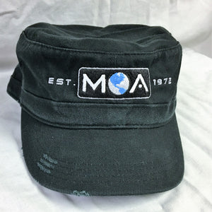 Classic Military Hat in Distressed Colors