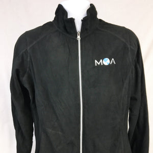 Ladies Full Zip Fleece Jacket in Black