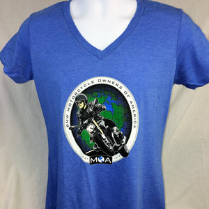 Ladies R Nine T V Neck T-Shirt in Blue or White **SALE**