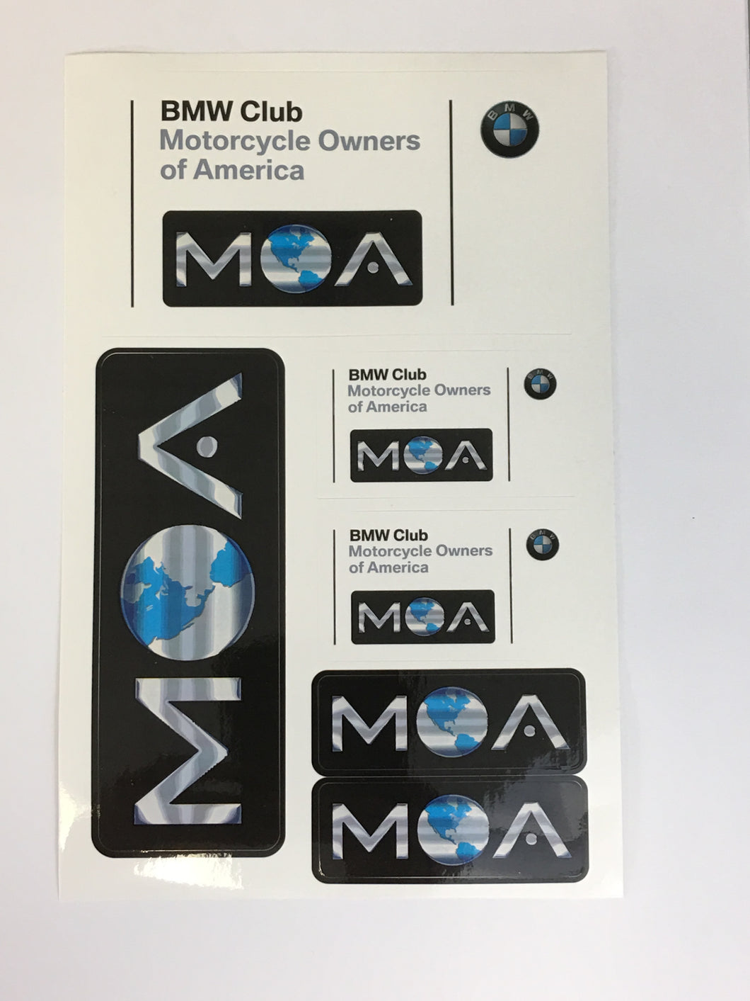 BMW MOA Sticker Sheet